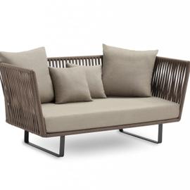 Gray organic cotton sofa small