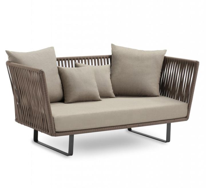 Gray organic cotton sofa