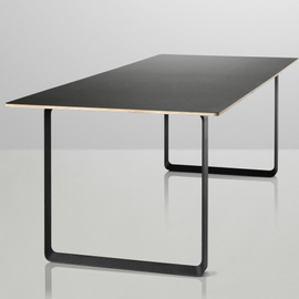 Table with black metal legs