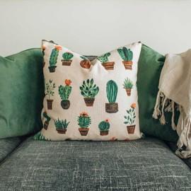 Handmade patterned cushion small