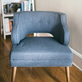 Sustainable gray armchair small