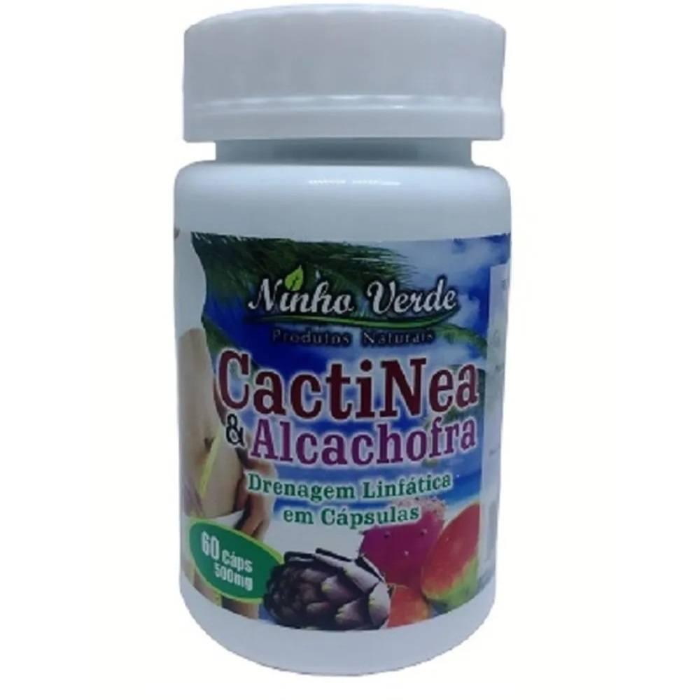 CactiNea e Alcachofra 60 cáps. 500 mg  Ninho Verde