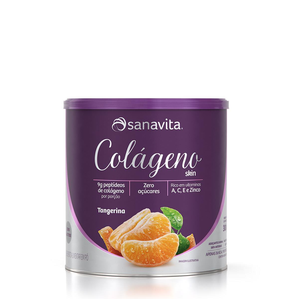Colágeno Hidrolisado - 300 Gramas - Sanavita Tangerina