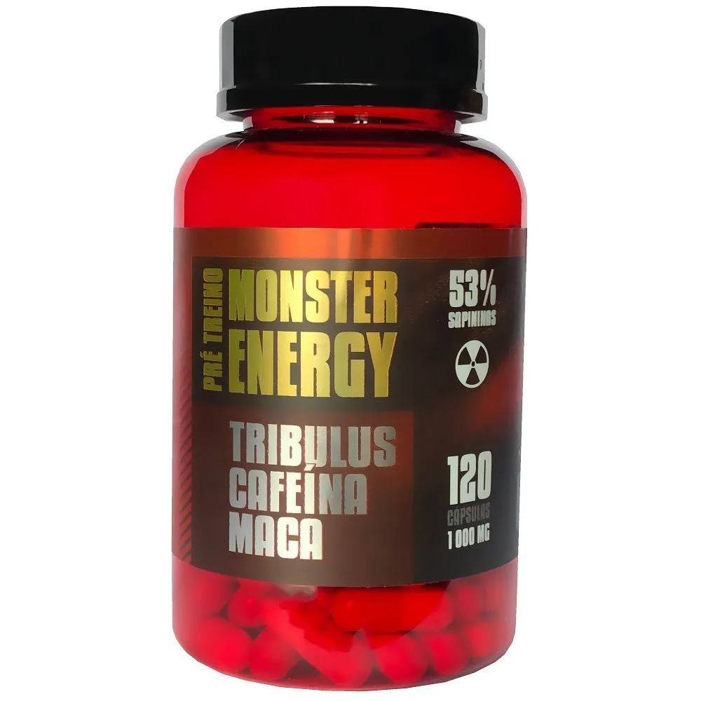 Tribulus + Cafeina + Maca Pré-Treino Monster Energy 120caps 1000mg - Ninho Verde