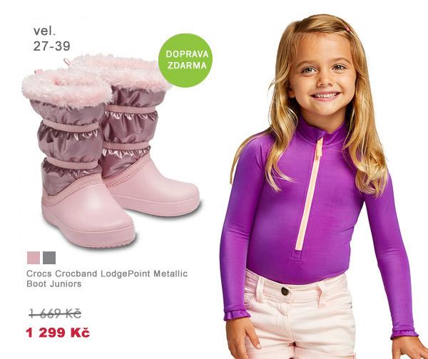 Crocs Crocband LodgePoint Metallic Boot Juniors