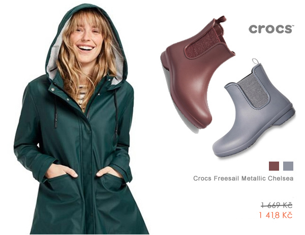 Crocs Freesail Metallic Chelsea