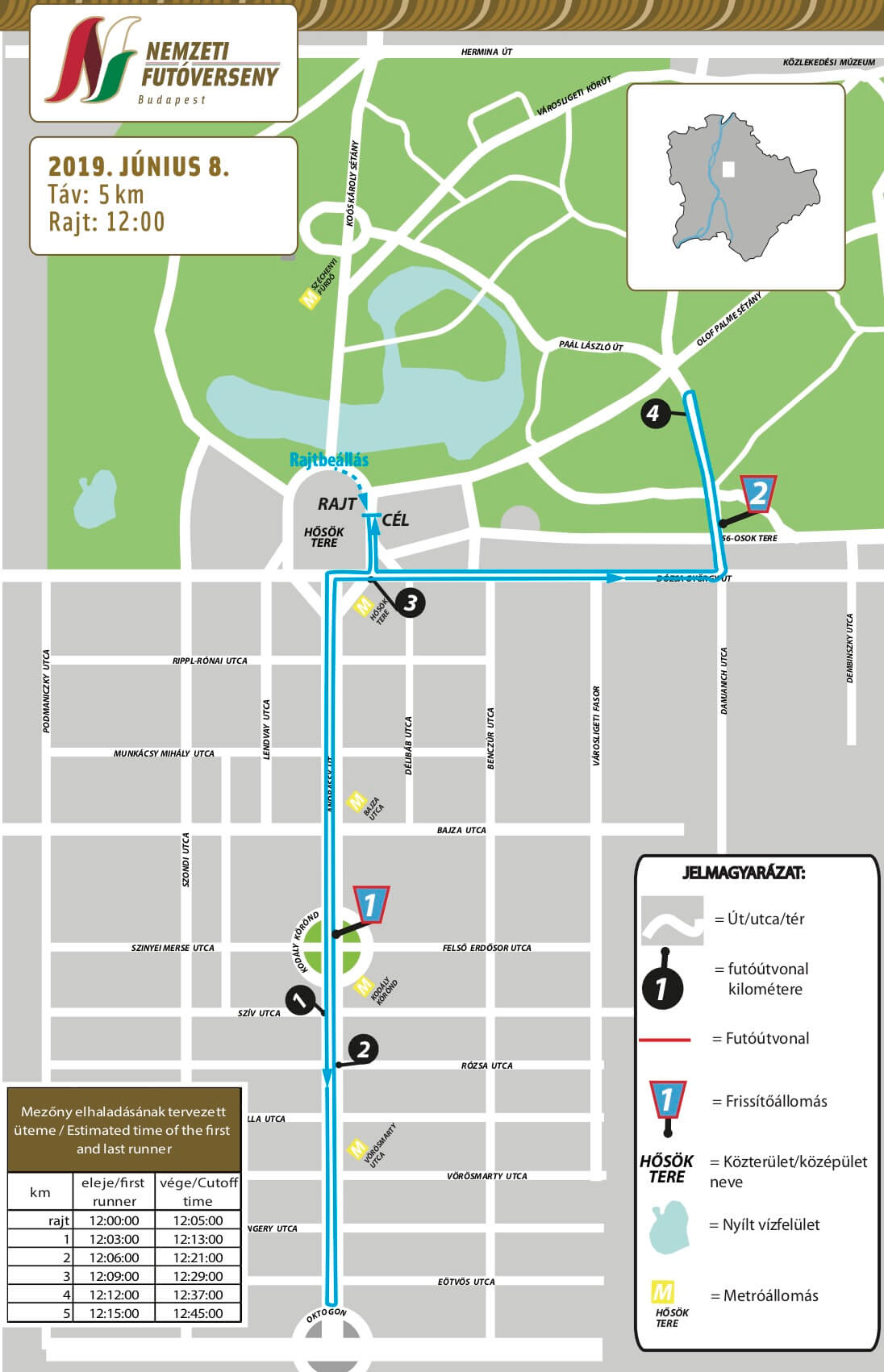 Az 5km-es futam térképe