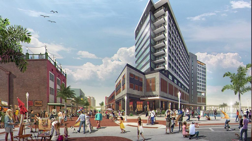 fort myers florida downtown hotel architectural rendering