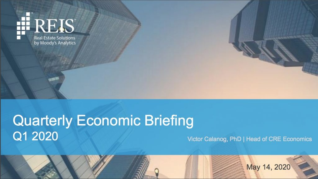 Q1 2020 REIS Quarterly Economic Briefing cover