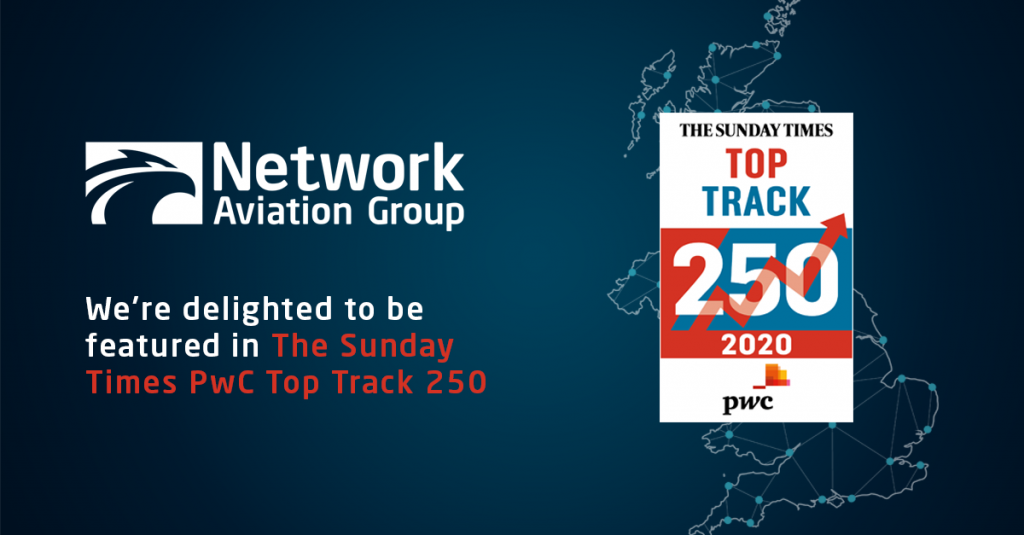Network Aviation Group Feature in The Sunday Times PwC Top Track 250