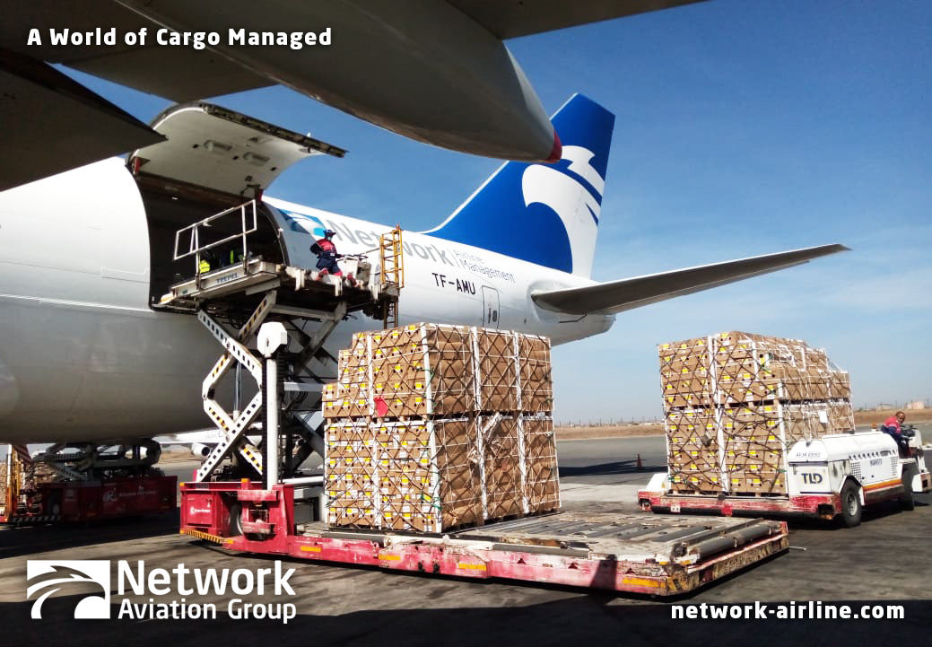 Loading Valentine's Day Flowers in NBO on TF-AMU - Network Aviation Group