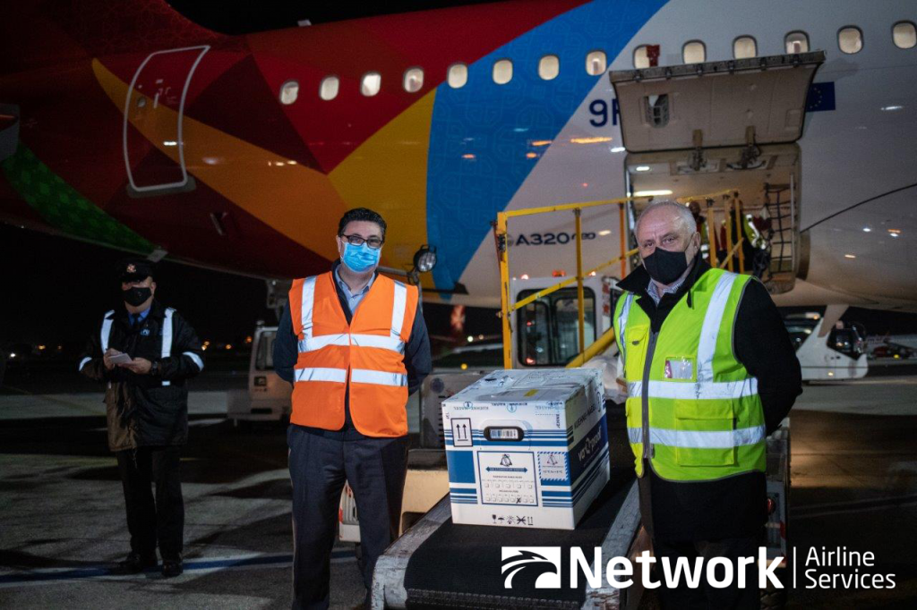 Air Malta Carries Moderna COVID-19 Vaccine to the Islands - Network Airline Services