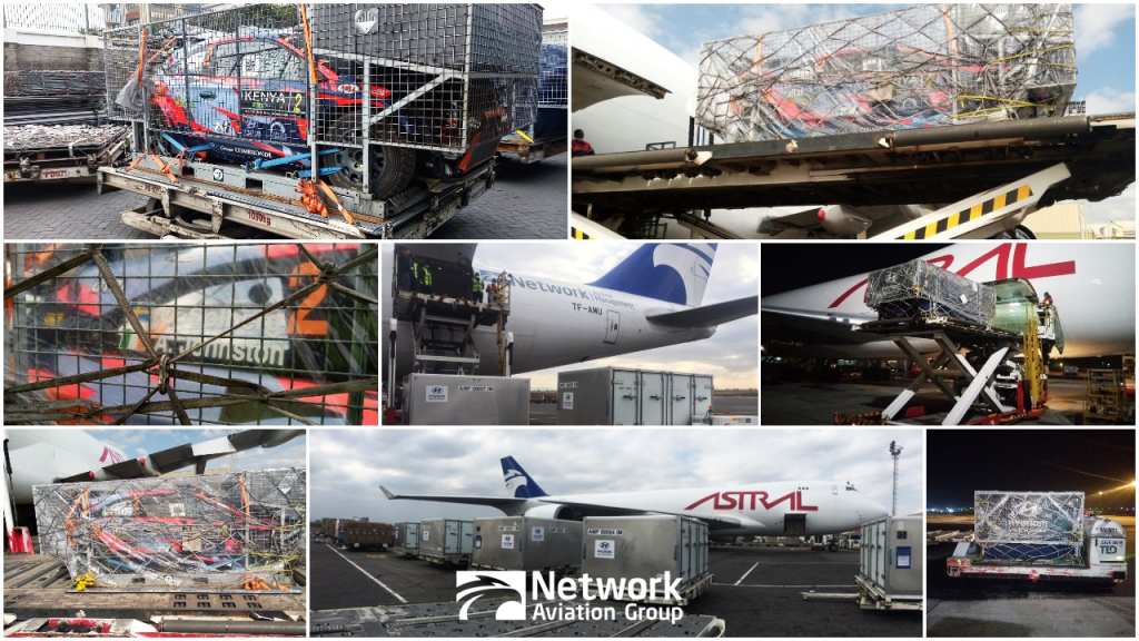 Network Airline Management Transports Rally Cars for the WRC Safari Rally Kenya 2021 - Network Aviation Group - Collage Image