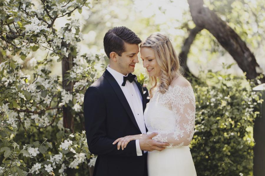 Bröllopspar fotograferade av Elin Kero