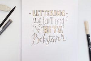 <b>Lettering - Hur jag lärt mig rita bokstäver</b>