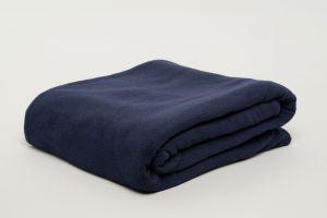 Fibresmart Thermalux Blankets 100% Polyester Fleece Queen Navy