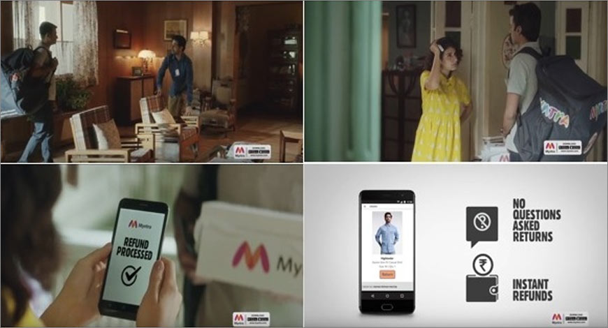 49c72fc62ed8 Myntra has kicked off a 360 degree marketing campaign to underscore its  unique service offerings