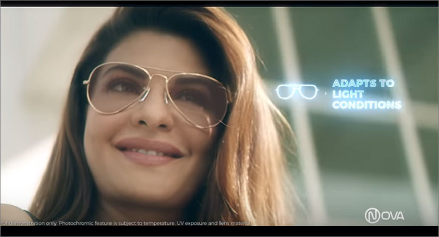2cab739a71c Nova Eyewear s latest campaign has Jacqueline Fernandez showcasing the  brand s collection