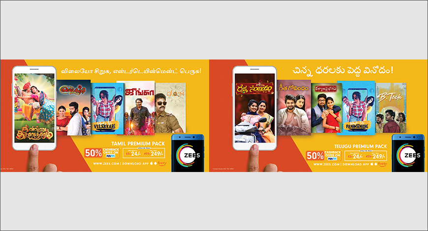 ZEE5 announces special subscription packs for Tamil, Telugu viewers