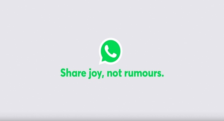 WhatsApp Share Joy Not Rumors