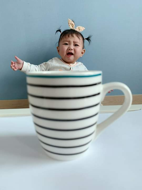⭐  cô chú bế giúp con ra khỏi mấy cái cốc khổng lồ này với  SoMin6month... - Photos byKiều Tiên