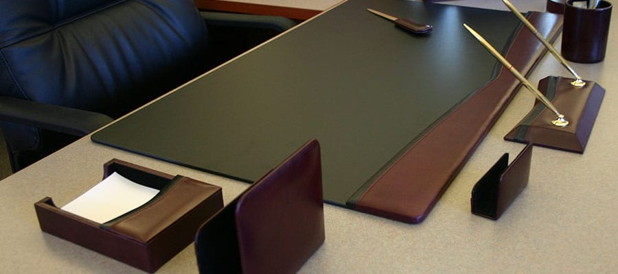 The Elegant Office Executive Leahter Conference Pads Desk Pads - Boardroom table accessories