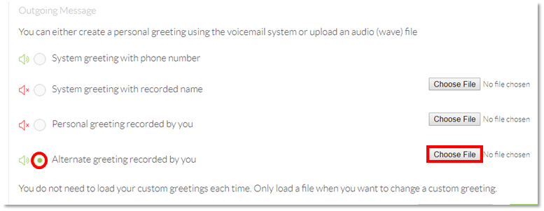 Nextiva connect how to upload a voicemail greeting nextiva support nextiva voicemail selecting the greeting file m4hsunfo
