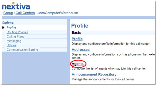 Nextiva Adding an Agent to a Call Center