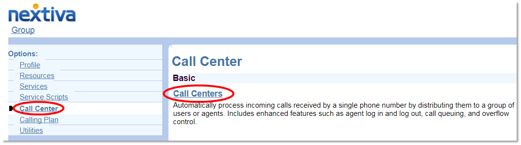 Nextiva Opening the Call Centers View