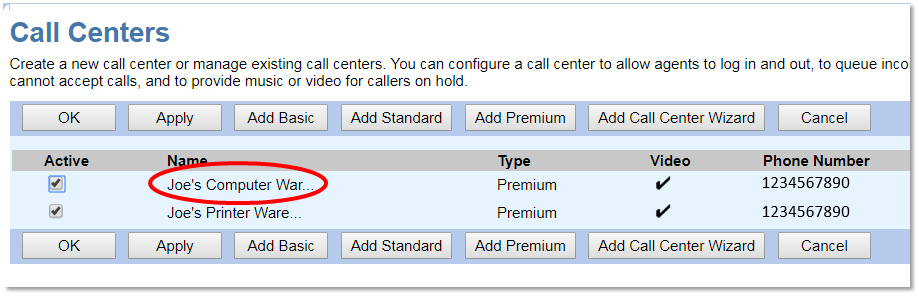 Nextiva Opening the Call Center Configuration