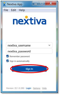 Nextiva Voice - Nextiva App Windows Setup | Nextiva Support