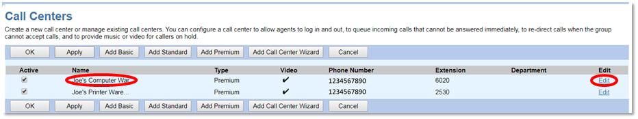 Nextiva Call Center Selection