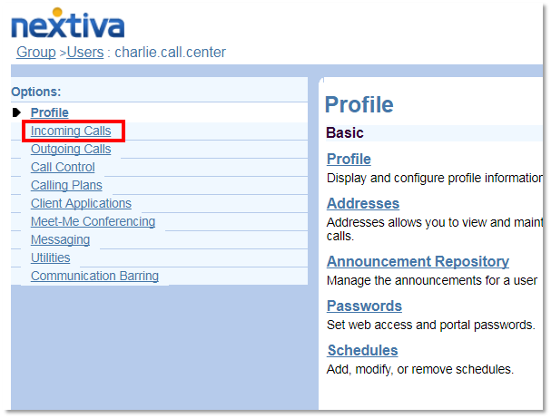 Updating Calling Name and Number Settings | Nextiva Support