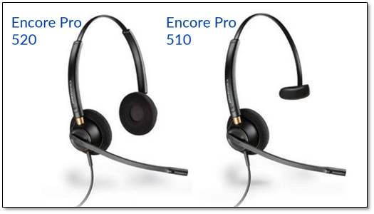 Connecting the Plantronics Encore Pro 510/520 Headset to a