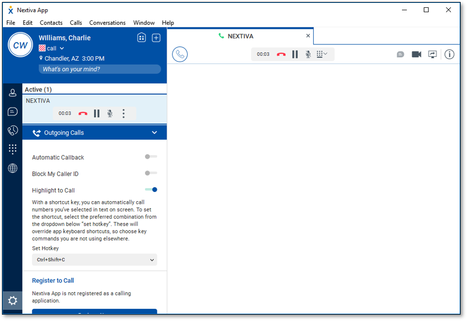 Using Highlight to Call with the Nextiva App for Windows
