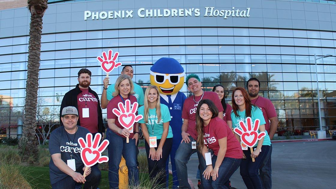 Nextiva Cares volunteers at Phoenix Children's Hospital