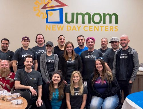 Nextiva Cares volunteers at UMOM