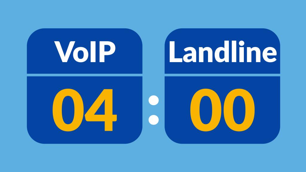 VoIP 4, Landline 0
