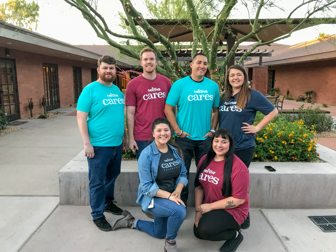 Nextiva Cares Volunteers with ALS Association and Arizonans for Children
