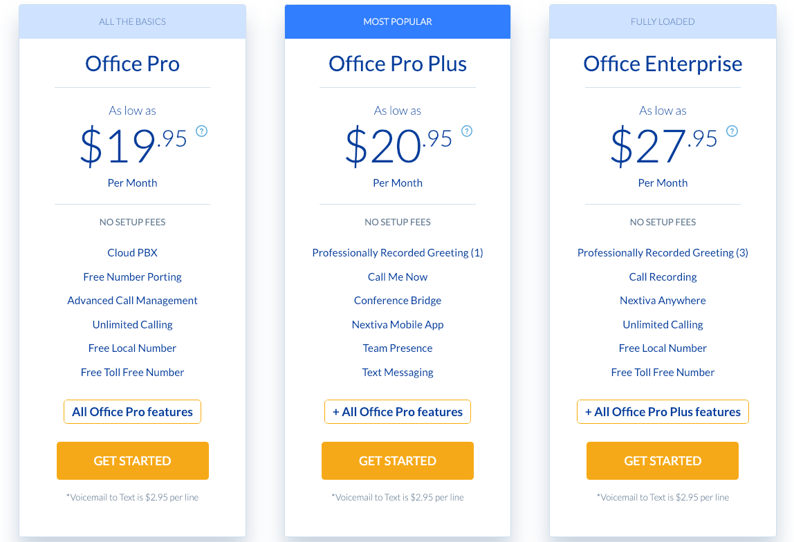 business phone service pricing comparison module