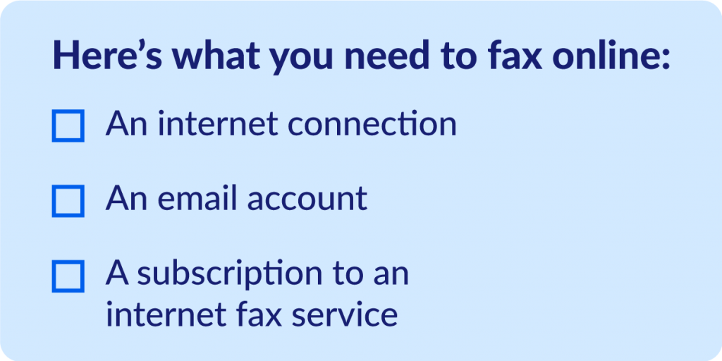 Checklist: What you need to fax online