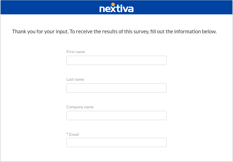 survey best practice example - asking for personal info at the end