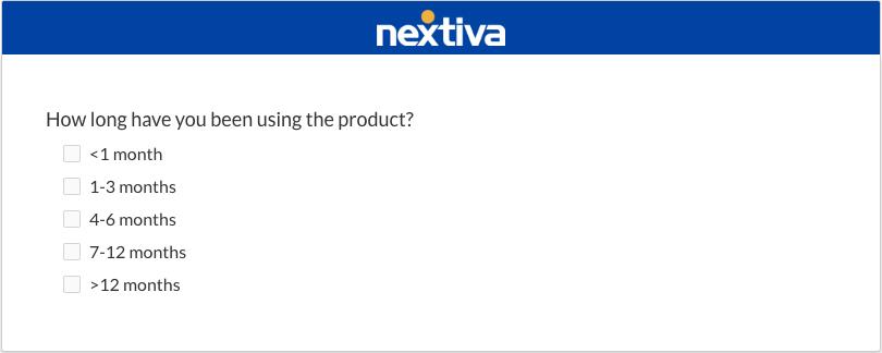 survey best practice example - short questions