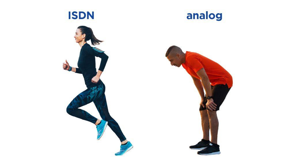 ISDN operating speeds
