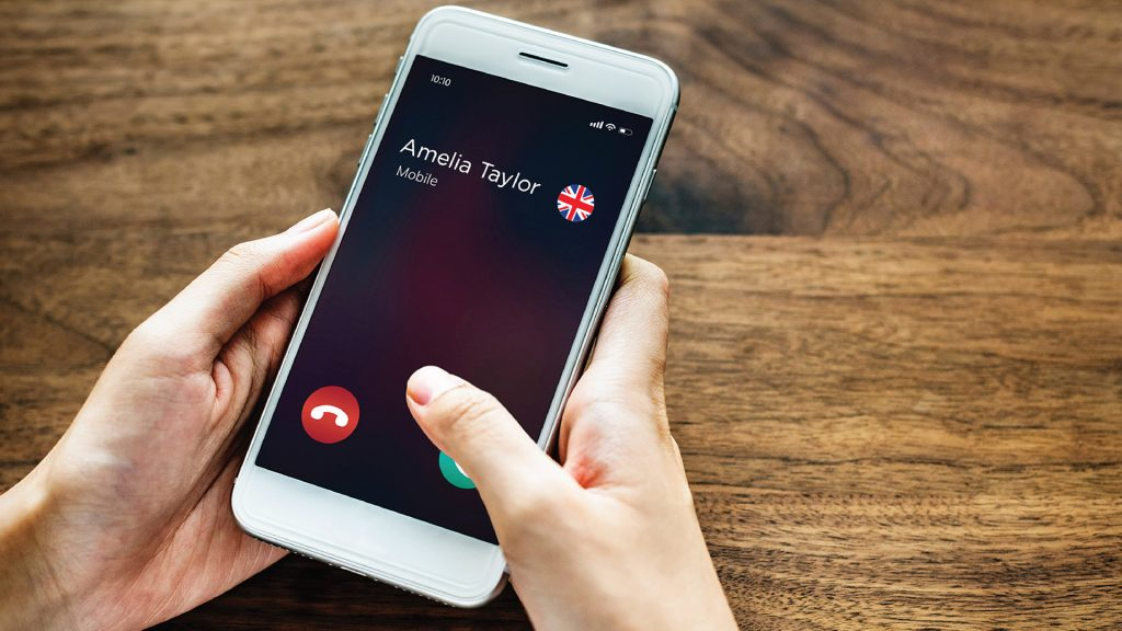 dialing a UK cellphone from the US