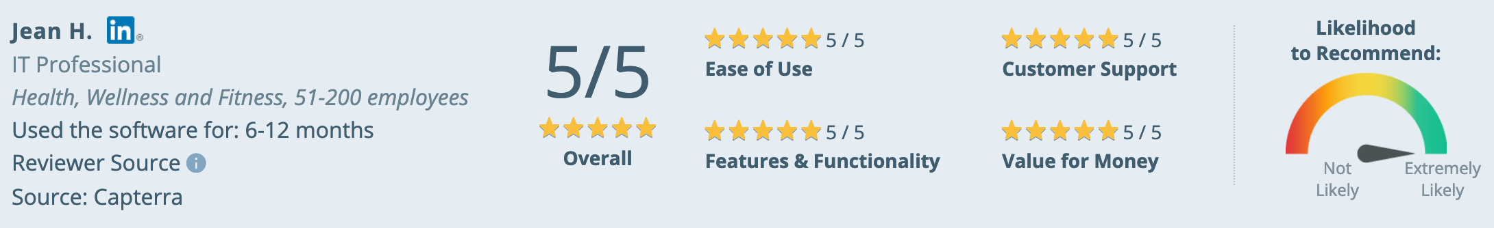 Nextiva Reviews: Capterra Review 5