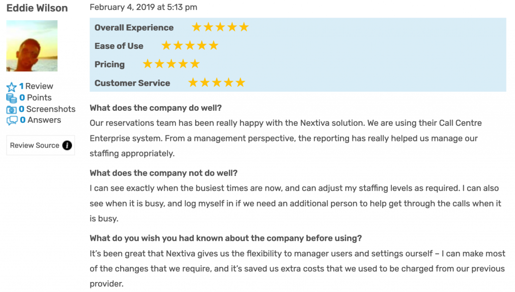 Nextiva Reviews: FitSmallBusiness Review 3