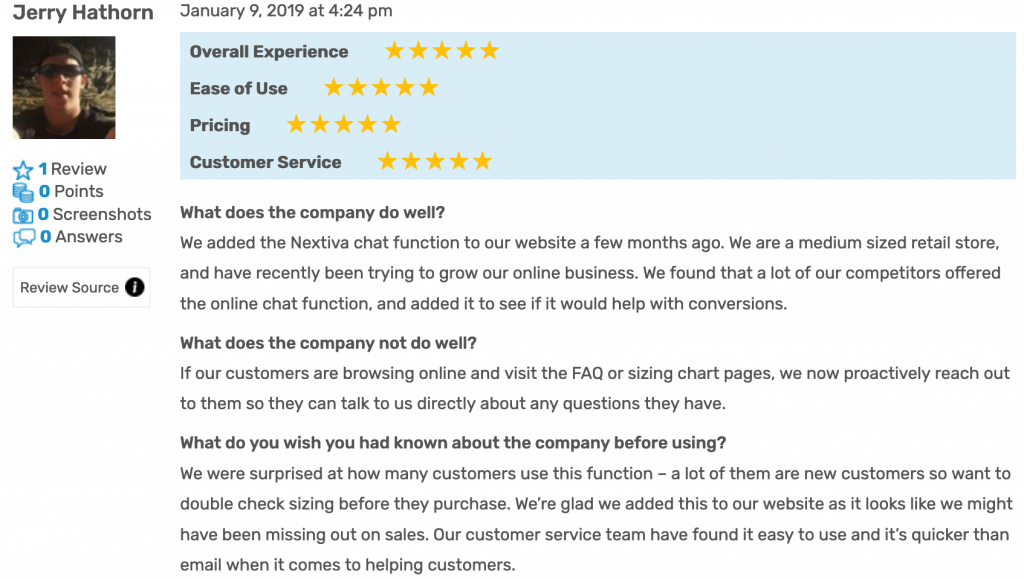 Nextiva Reviews: FitSmallBusiness Review 5