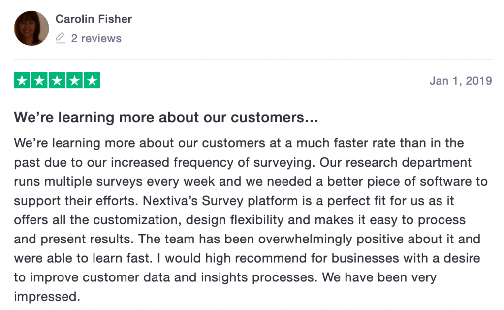 Nextiva Reviews: Trustpilot Review 4
