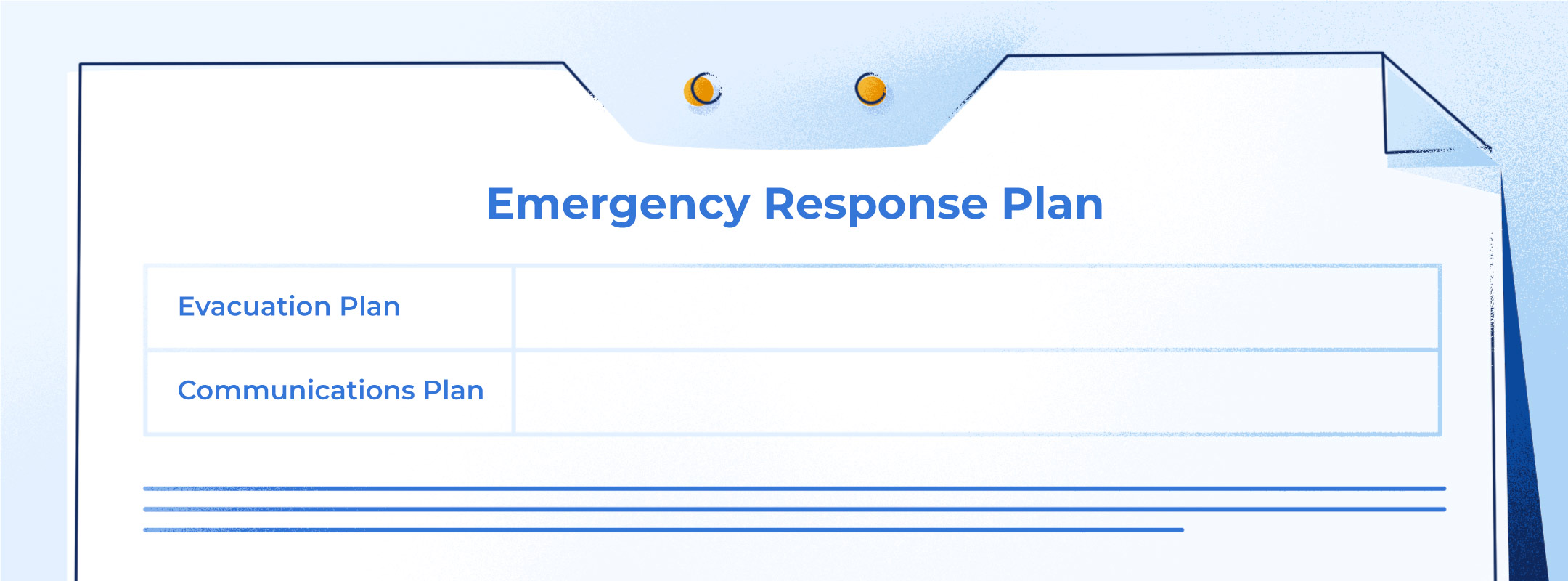 Illustrated basic example of an Emergency Response Plan